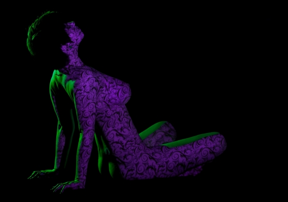 modeling photography, art nude, nude photography, projection photography, light projection